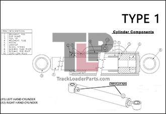 ASV PT80 21.1 A Hydraulic Bucket Tilt Cylinders TYPE 1 asv pt80 oem parts diagrams terex pt80 wiring diagram at mifinder.co