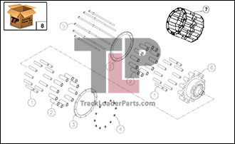ASV RC100 21.1 A Drive Sprocket Assembly asv rc100 oem parts diagrams cat 287b wiring diagram at eliteediting.co