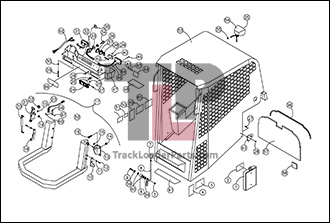 ASV RC30 01 A Cab ROPS Assembly Open asv rc30 oem parts diagrams asv rc30 wiring diagram at edmiracle.co