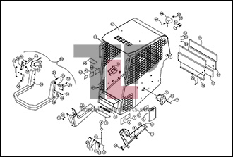 ASV RC30 01 C Cab ROPS Assembly Open asv rc30 oem parts diagrams asv rc30 wiring diagram at edmiracle.co