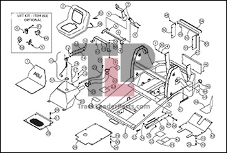 ASV RC30 04 A Chassis Assembly asv rc30 oem parts diagrams asv rc30 wiring diagram at edmiracle.co