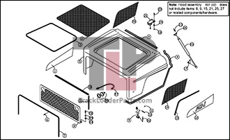ASV RC85 05 A Hood Assembly asv rc85 oem parts diagrams asv rc60 wiring diagram at gsmportal.co
