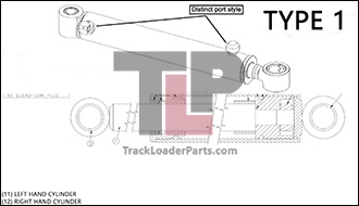 ASV RC85 24.1 A Hydraulic Bucket Tilt Cylinders Type 1 asv rc85 oem parts diagrams asv rc 50 wiring diagram at edmiracle.co