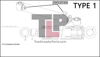 ASV RC85 24.2 A Hydraulic Boom Lift Cylinder Type 1 asv rc85 oem parts diagrams asv rc60 wiring diagram at gsmportal.co