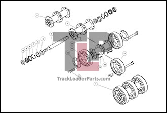 Caterpillar 287B 05 C 10 Inch Bogie Axle Metal Face Seal cat 287b mtl oem undercarriage parts diagrams axle diagram at gsmx.co