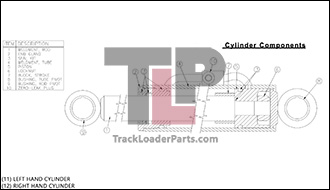 Terex PT60 15.1 A Hydraulic Bucket Cylinder 2030 286 2030 287 terex pt60 oem parts diagrams cat 287b wiring diagram at eliteediting.co