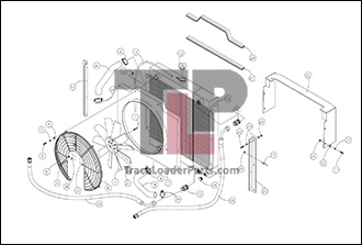 Terex R190T 2 2A Radiator and Oil Cooler terex r190t oem parts diagrams terex hd1000 wiring diagram at mifinder.co